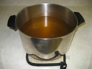 Voilà! Golden liquid tallow!