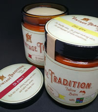 Vintage Tradition has all-animal-oil products, Epic Glow and Oh Aches! with Green Pasture oils