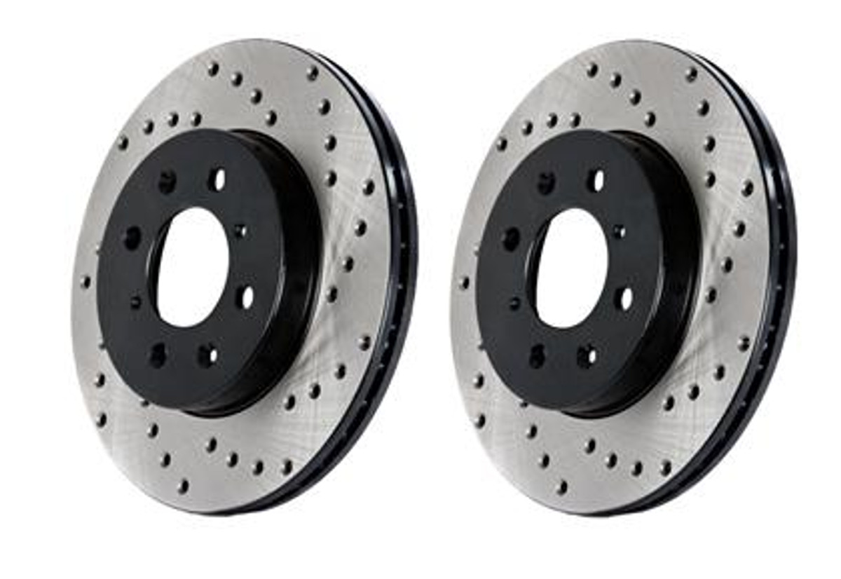 Front+Rear Rotors + Ceramic Pads -Cross Drilled- Fits:-2009 09 2010 10 Honda Odyssey