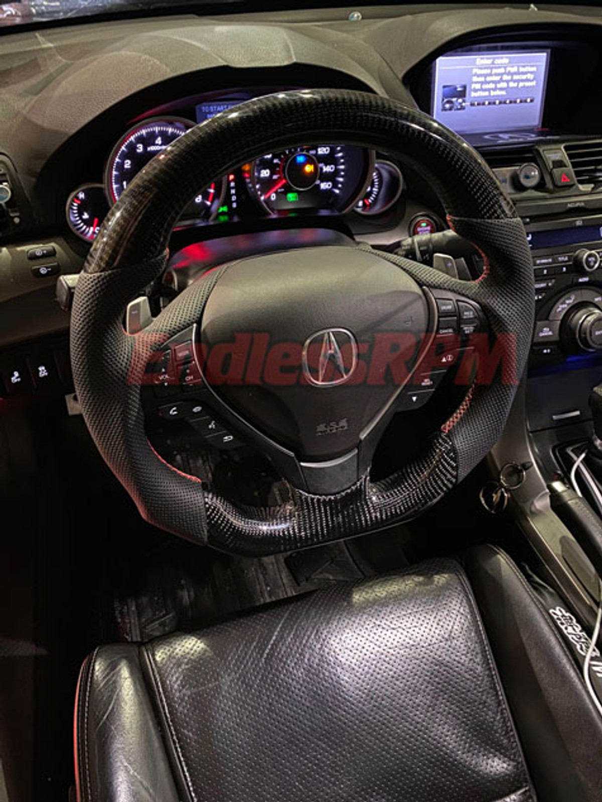 Custom Acura Tl Steering Wheel Carbon Fiber And Woodgrain