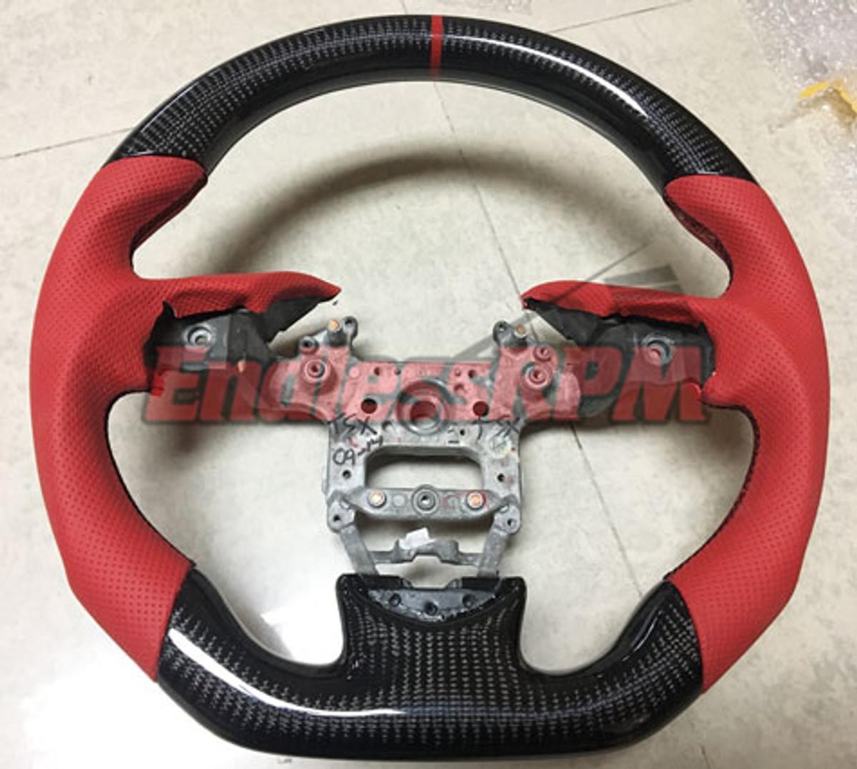 Custom Acura Tsx Steering Wheel Carbon Fiber And Woodgrain