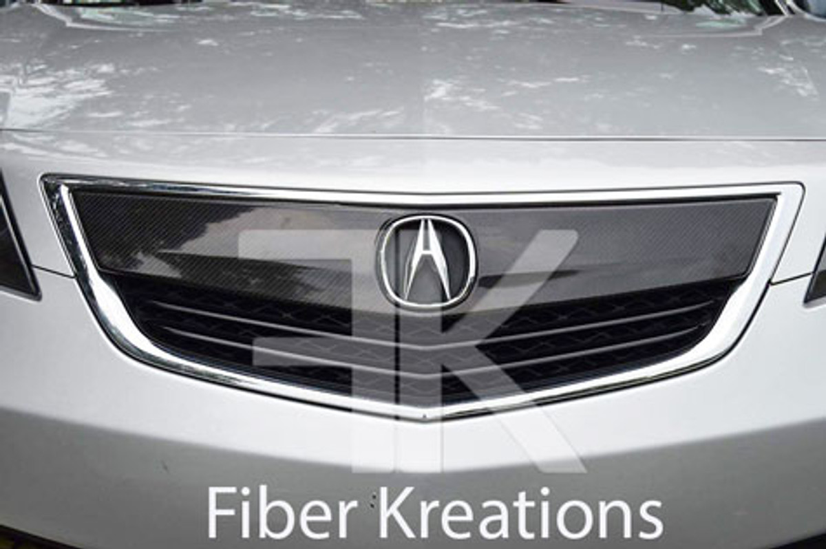 Acura Tl 2012 2014 Front Grill Real Carbon Fiber Oem Style