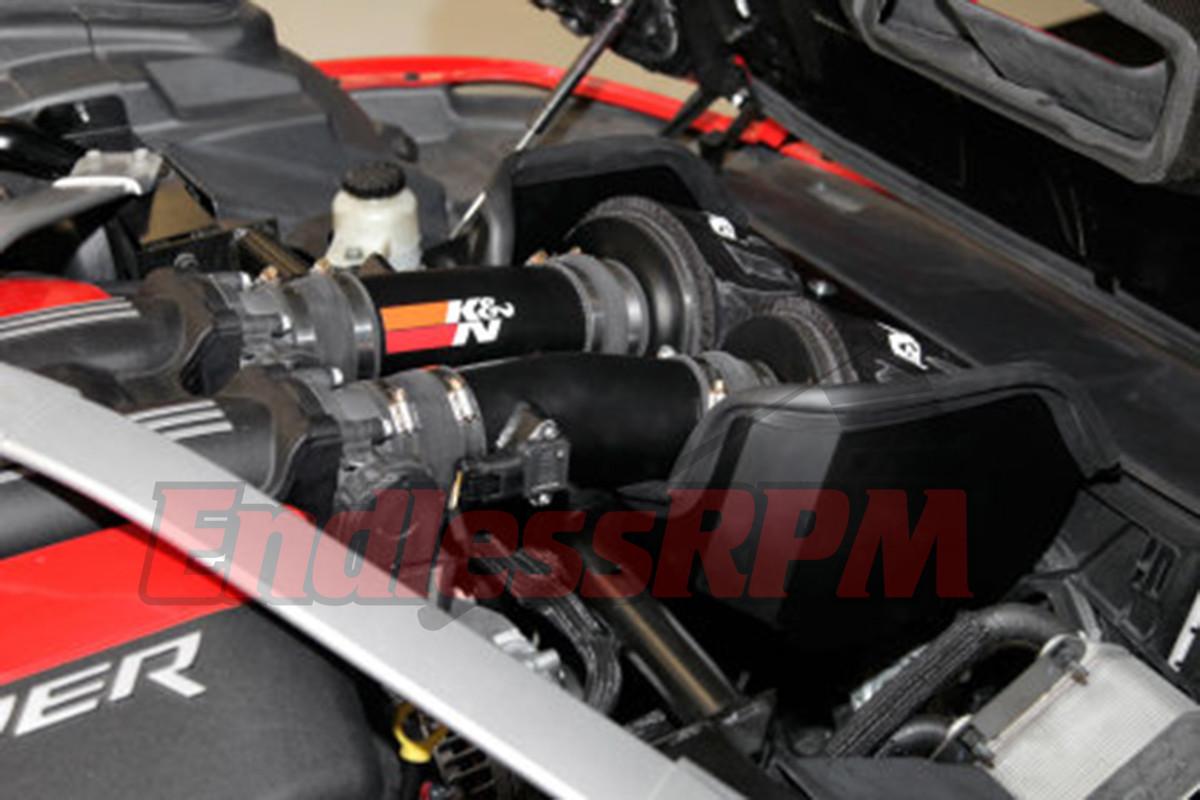 K/&N 69 Series Silver Typhoon Air Intake System fits 13-17 Honda Accord 3.5L V6