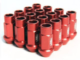 BLOX Racing Street Series Forged Lug Nuts - Red 12 x 1.25mm - Set of 20