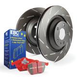 EBC Red Stuff brake pads and slotted rotors