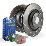 EBC Green Stuff brake pads and slotted rotors