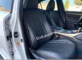 Lexus IS Diamond Pattern Seat Replacements - Single color 2014-2019