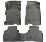 Husky Liners 2012 Honda Civic WeatherBeater Combo Gray Floor Liners-Sedan Only