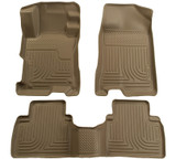Husky Liners 2012 Honda Civic WeatherBeater Combo Tan Floor Liners-Sedan Only