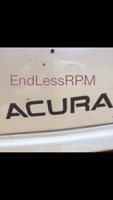 Acura TL front bumper decal