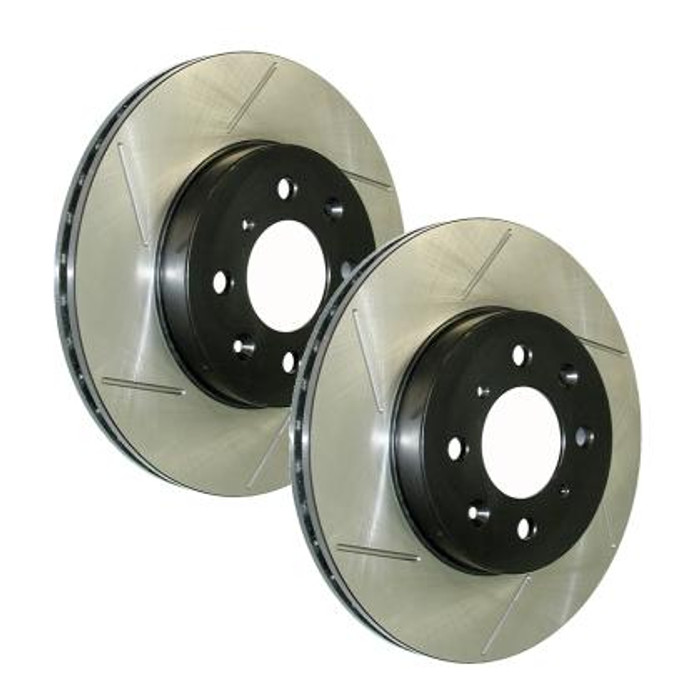 Stop Tech Power Slot 05-10 Mustang GT V8-4.6L Front Left Slotted Rotor