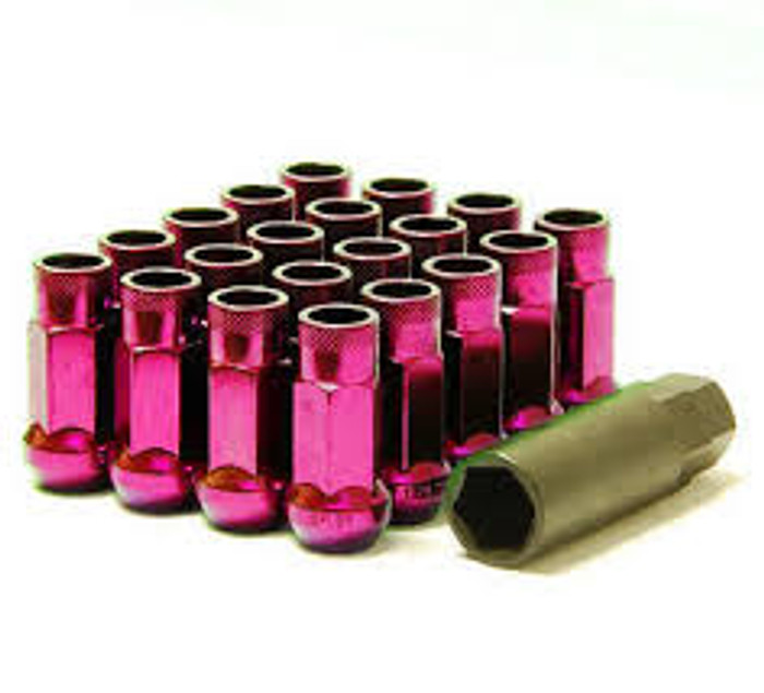 Wheel Mate Muteki SR48 Open End Lug Nuts - Pink 12x1.50 48mm