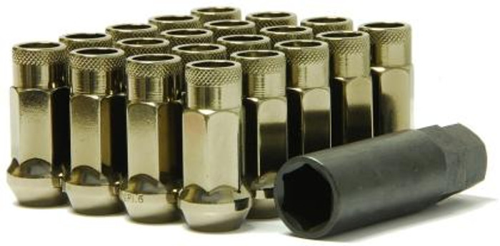 Wheel Mate Muteki SR48 Open End Lug Nuts - Titanium 12x1.50 48mm