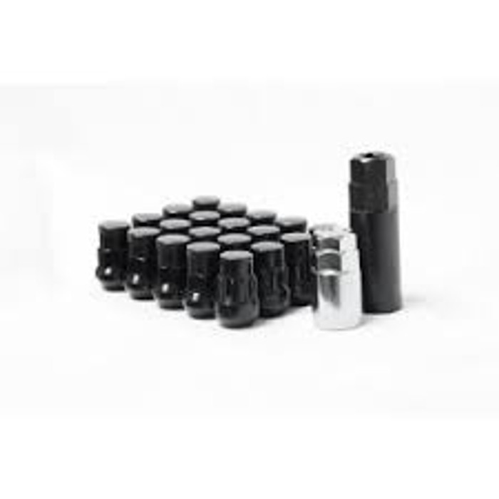 Wheel Mate Muteki SR35 Close End Lug Nuts w/ Lock Set - Black 12x1.50 35mm