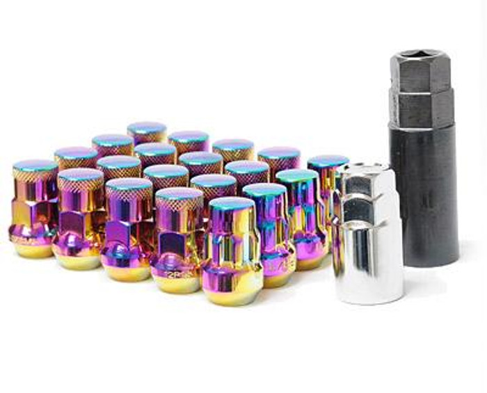 Wheel Mate Muteki SR35 Close End Lug Nuts w/ Lock Set - Neon 12x1.50 35mm