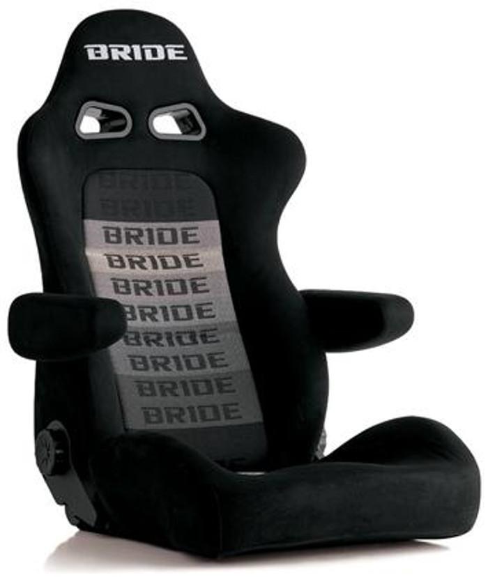 Bride Cusco Euro II+C Cruz Black Suede w/ Dark Grey Mesh Seat
