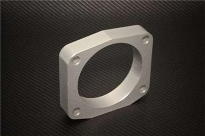 Torque Solution Throttle Body Spacer (Silver): Acura TL 2009-2014 - 3.5 ONLY