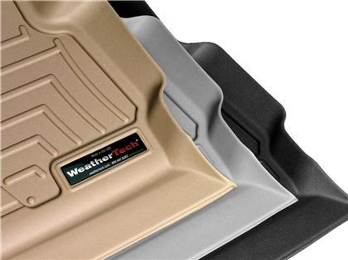 WeatherTech 04-08 Acura TL Front and Rear Floorliners - Black /Tan/Grey