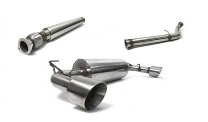 """Perrin Performance Brushed Catback Exhaust non-Resonated 3"""" Catback Exhaust"""
