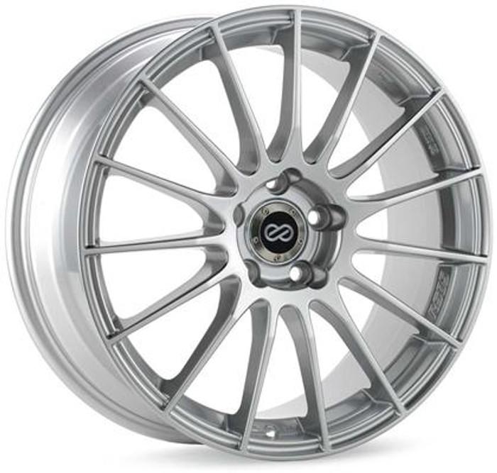 Enkei RS05-RR 17x7 4x100 Bolt Pattern 38mm Offset Sparkle Silver Wheel