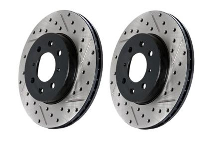 Stop Tech Slotted & Drilled Sport Brake Rotor front right ONLY