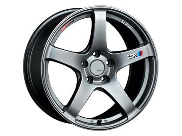 SSR GTV01 18x7.5 5x114.3 43mm Offset Phantom Silver Wheel