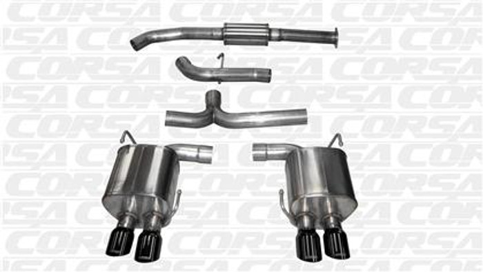 "Corsa 2015+ Subaru WRX Cat Back Exhaust, Black Quad 3.5"" Tips *Sport*"