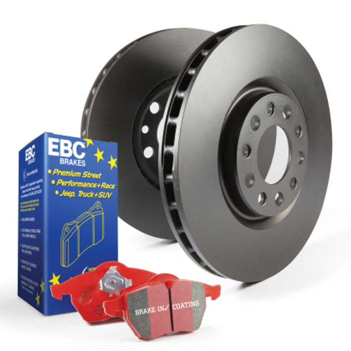 EBC Red Stuff brake pads and blank rotors