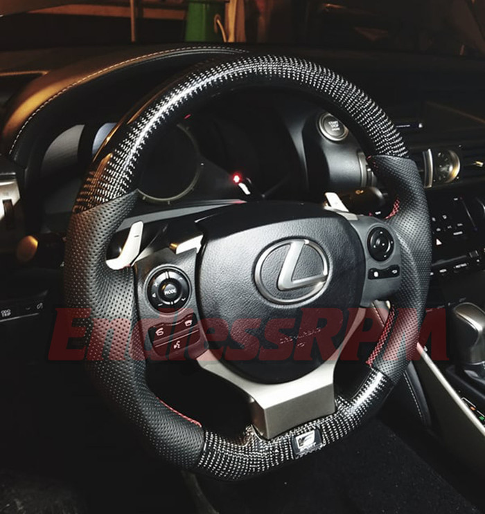 Custom Steering Wheel (2014-2018 Lexus IS / IS-F sport)