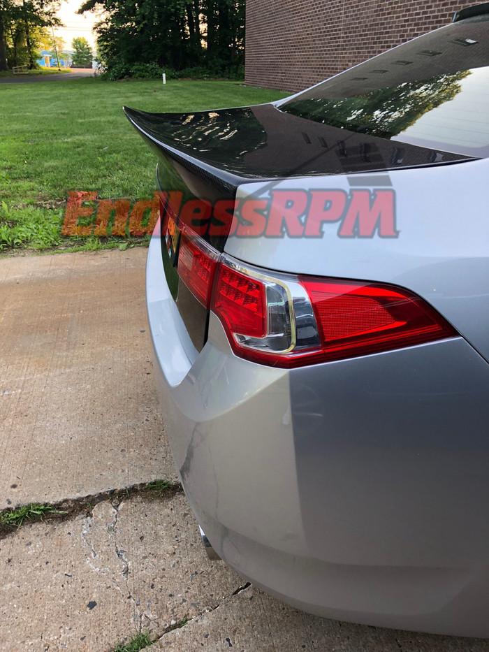 Acura TSX Carbon Fiber Duck Lip Trunk - Fits all 2009-2014 CU2
