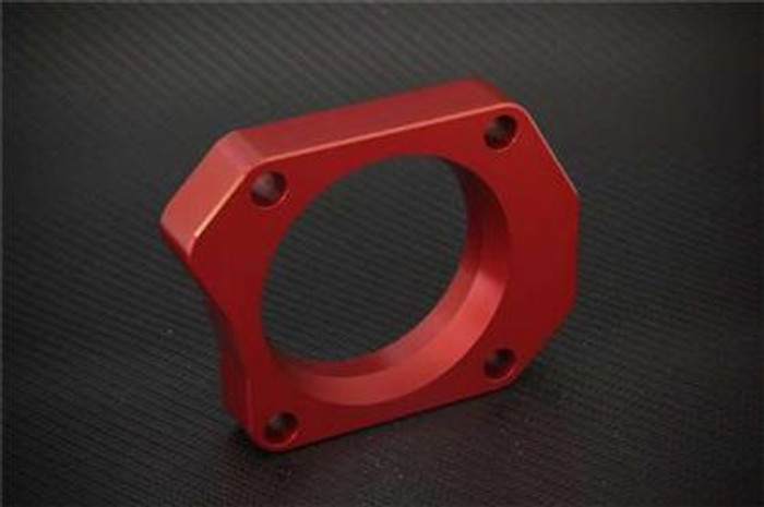 Torque Solution Throttle Body Spacer (Red): Honda Civic Si 2006-2011 72mm Tapered