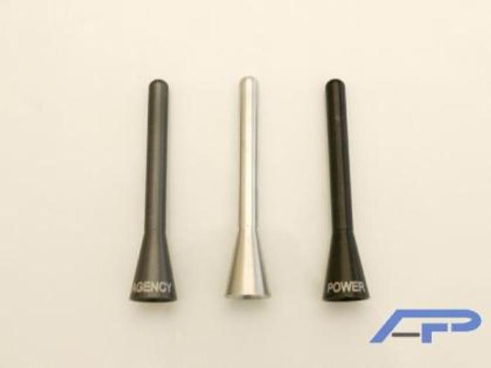 AP Universal V2 Shorty Aluminum Black Antenna