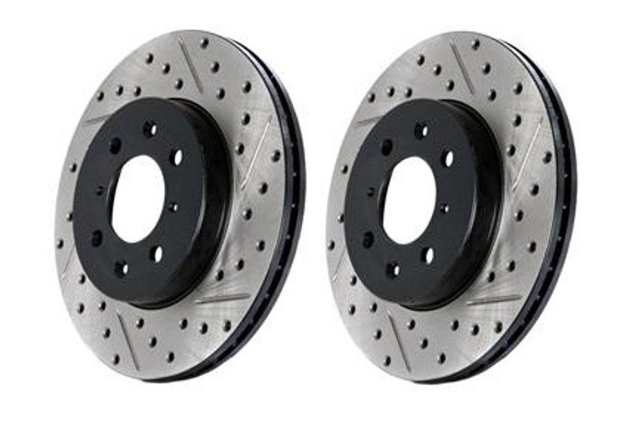 Stop Tech 05-10 Ford Mustang Slotted & Drilled Left Rear Rotor