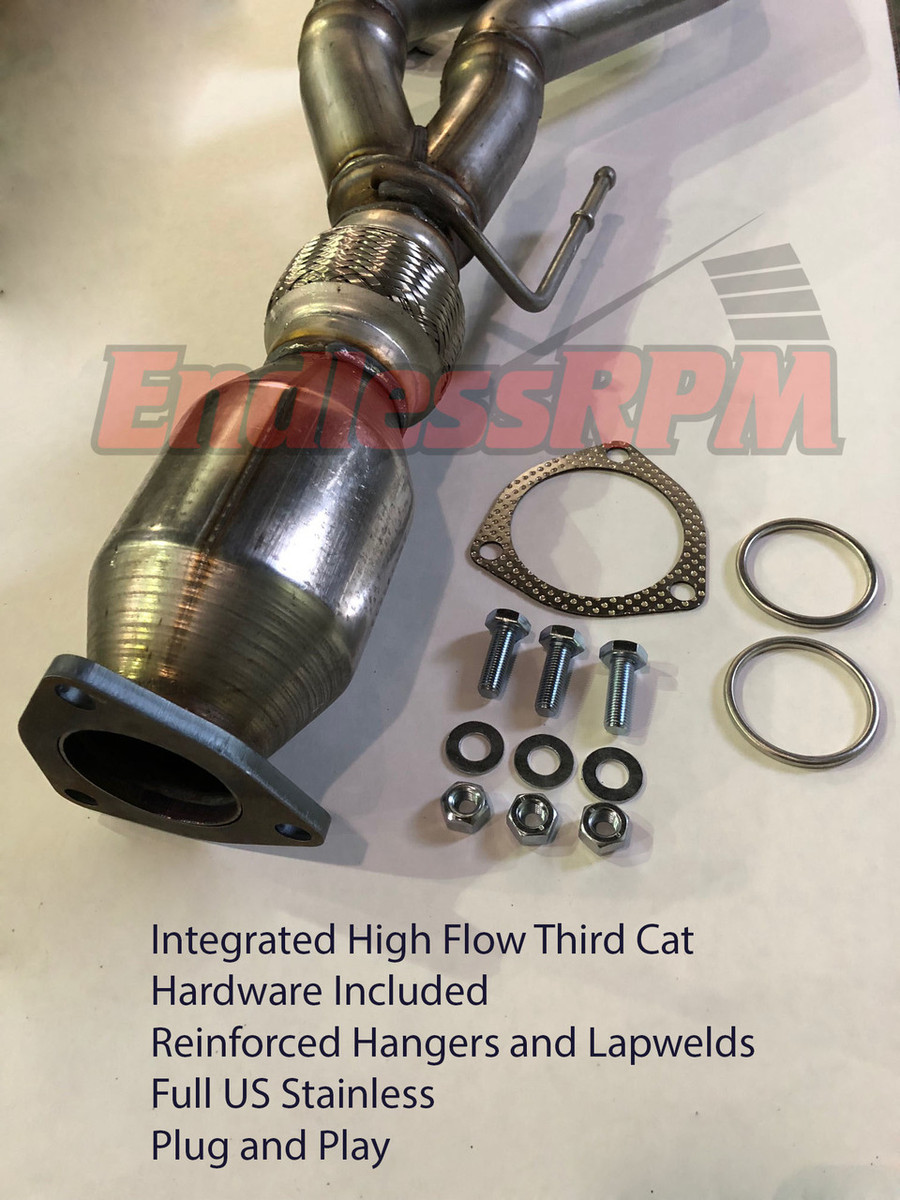 EndLess ERPM J pipe v3 w/ highflow cat, All 2004-2008 (incl Type-s)