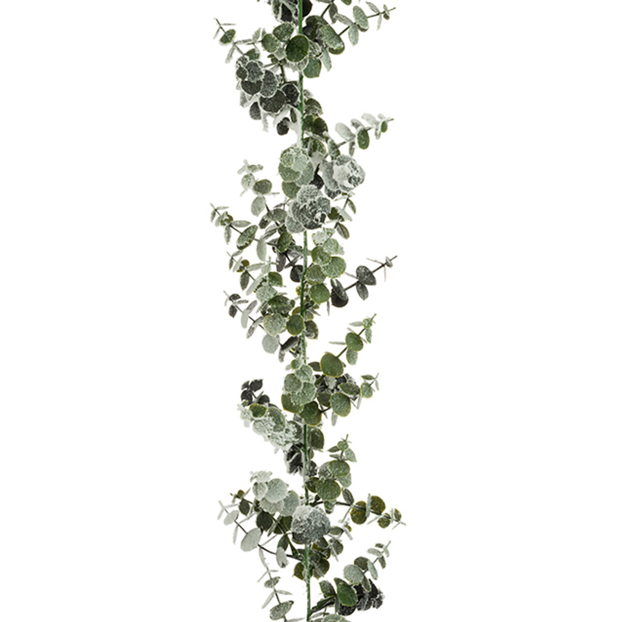 Spiral Artificial Eucalyptus Garland Frosted 180cm