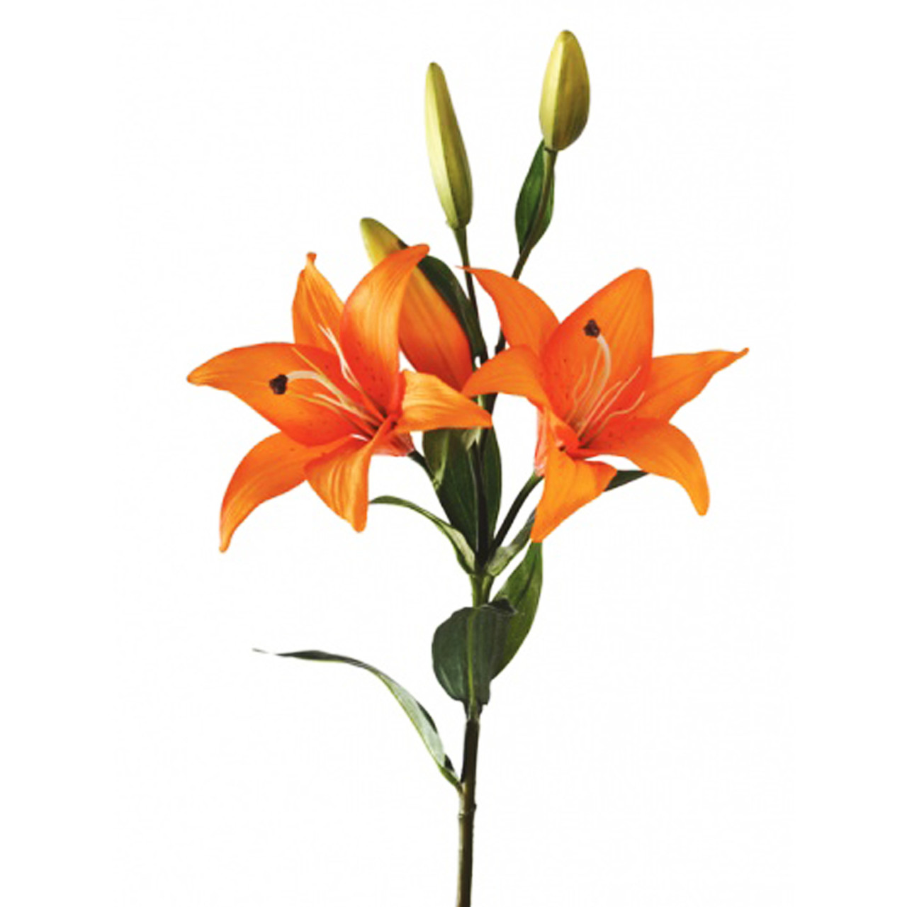 Tiger Lily Stem Artificial Flowers 86cm Orange