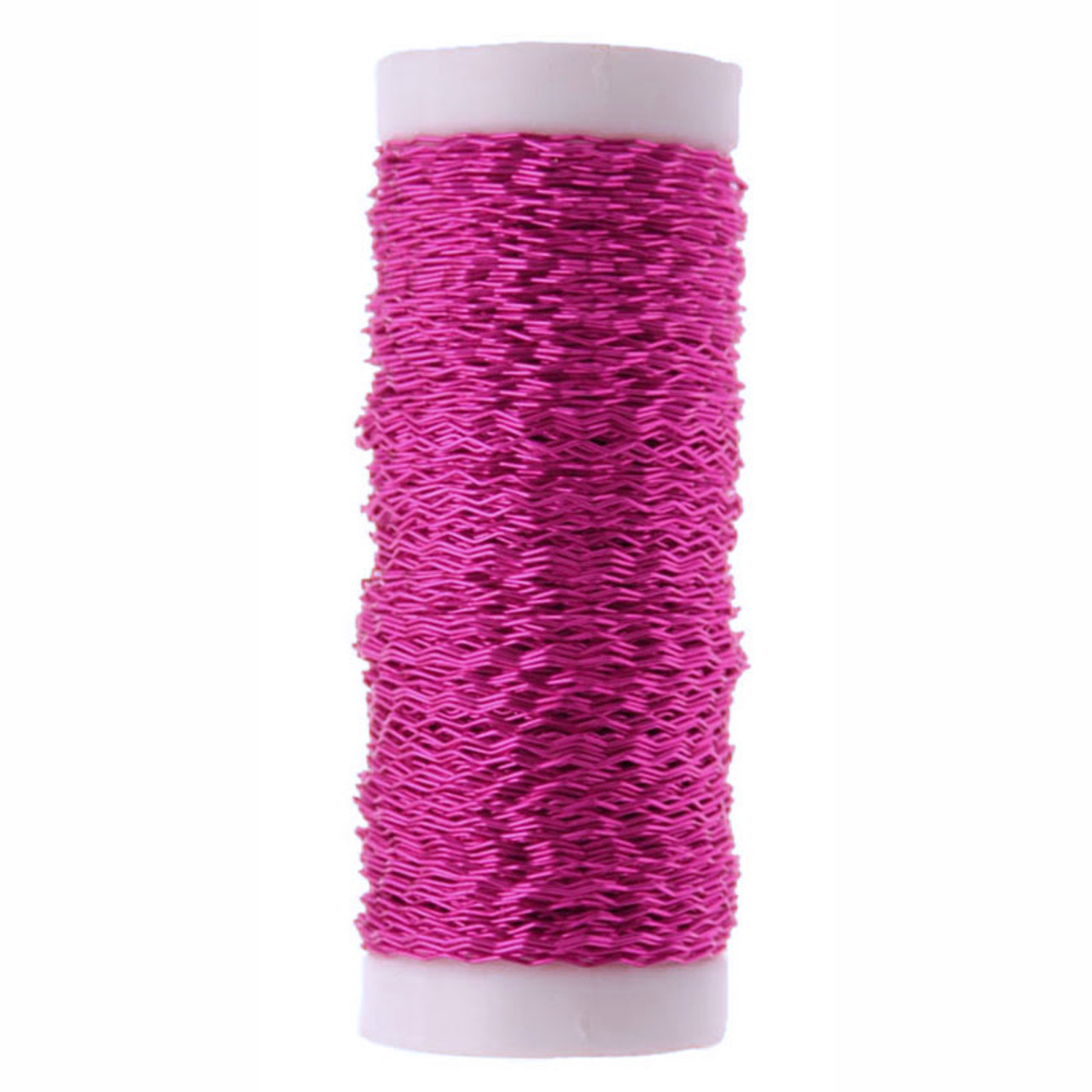 Bullion Wire 25g reel crinkly floristry Cerise Pink