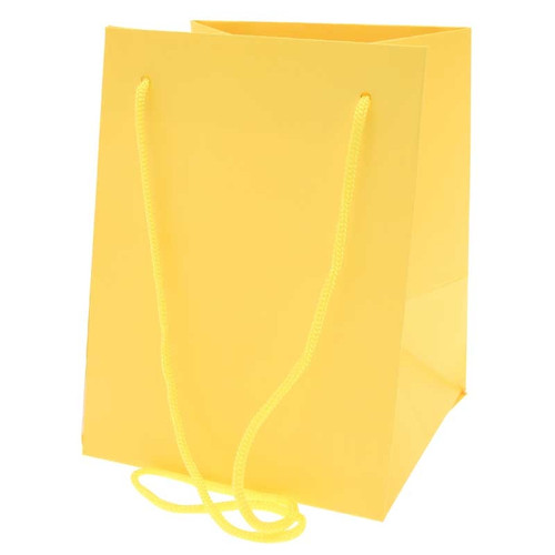 Bouquet Bag 19 x 19 x 25cm Pack of 10 Yellow