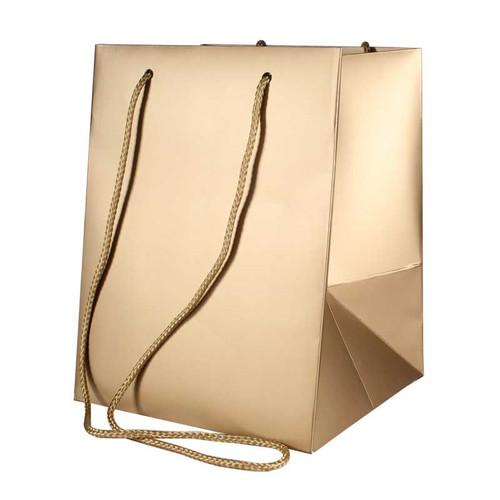 Bouquet Bag 19 x 19 x 25cm Pack of 10 Metallic Gold