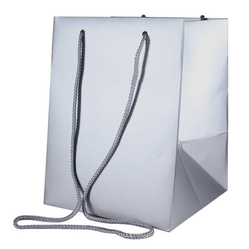Bouquet Bag 19 x 19 x 25cm Pack of 10 Metallic Silver