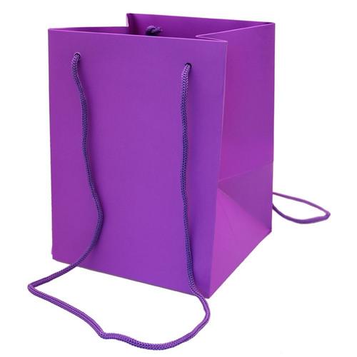 Bouquet Bag 19 x 19 x 25cm Pack of 10 Purple