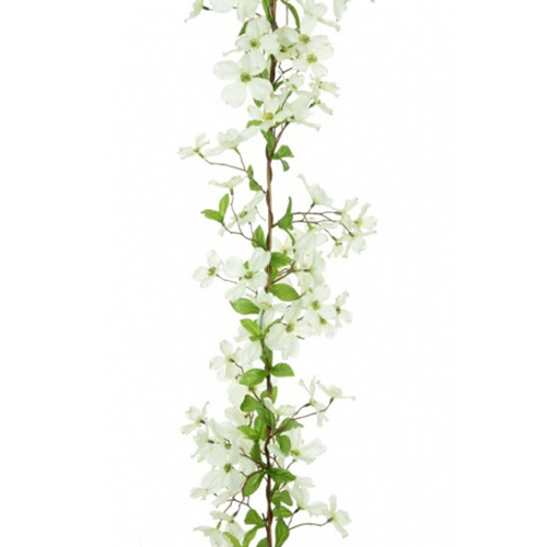 Dogwood Flower Garland White 150cm