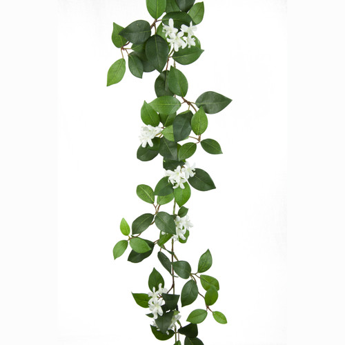 Jasmine Garland Green and White 175cm