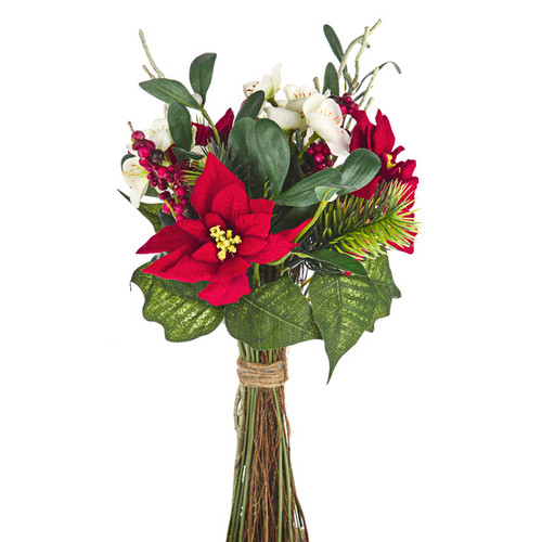 Christmas Flower and Berry Mixed Bouquet With Twigs 38cm