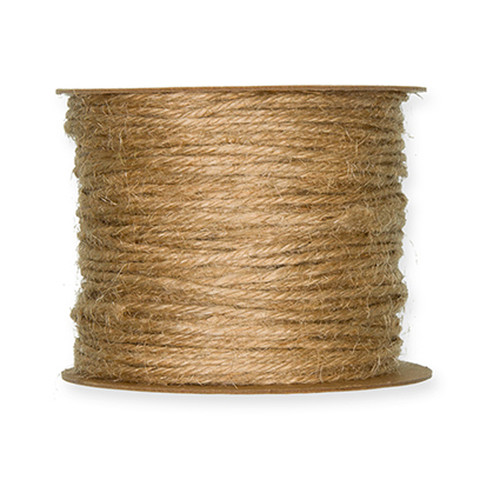 Jute Cord 2mm Diameter on a 50m Roll Natural