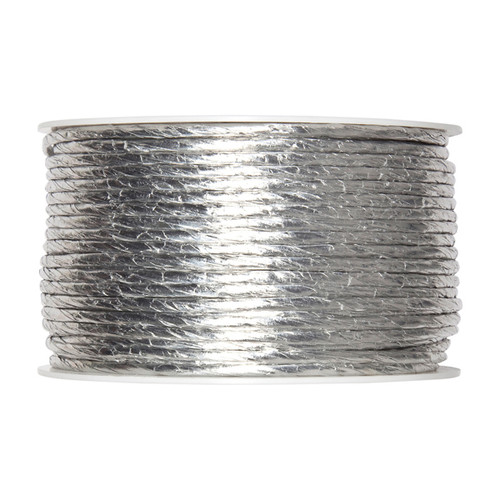 Paper Cord Silver 2mm Diameter with Internal Wire 50m Reel