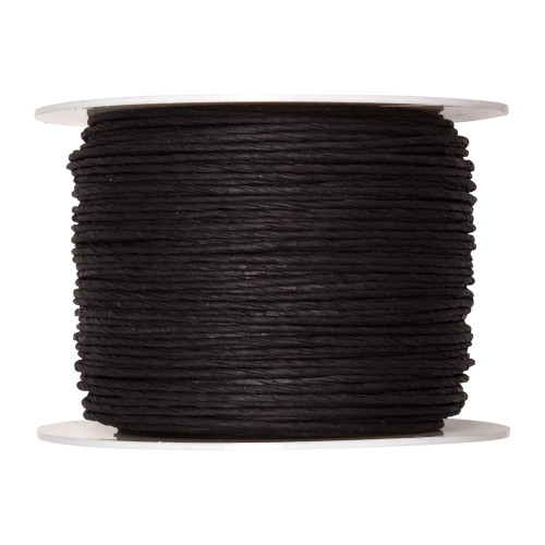 Paper Cord Wired Black 2mm x 100m Reel