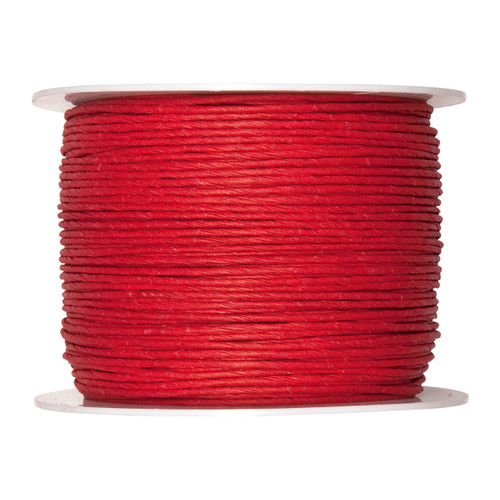 Paper Cord Wired Red 2mm x 100m Reel