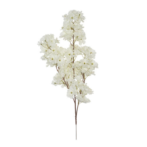 Cherry Blossom Branch Artificial 73cm x 108 Blooms White