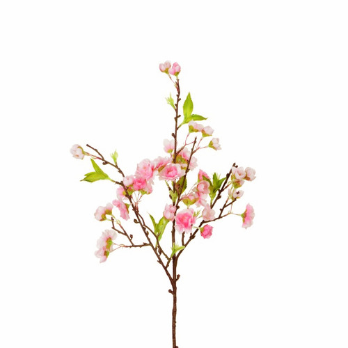 Cherry Blossom Branch Artificial 73cm x 108 Blooms White Spring Flowers